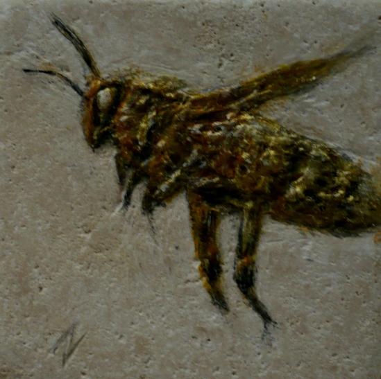 Hovering Honeybee